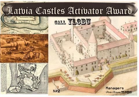 Latvia Castles Activator Award (YL3BU)